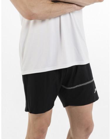 Camiseta NASIK negra-fucsia